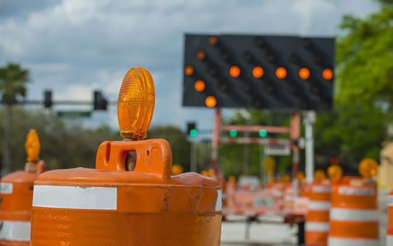 Traffic construction equipment